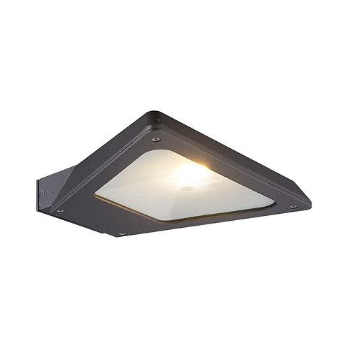 Applique LED triangulaire extérieure cadre gris anthracite, IP54, 10W