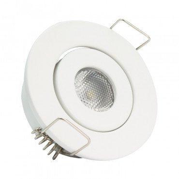 Spot LED, cadre blanc, orientable, 1W