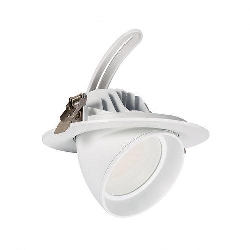 Spot LED Samsung, cadre blanc, orientable, 38W, UGR19