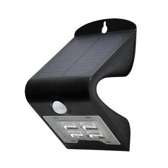 Applique LED cadre noir, solaire, 02W, avec détecteur