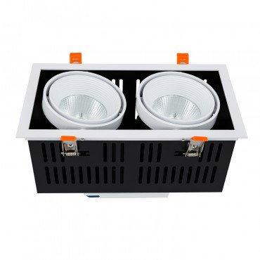 Projecteur encastrable LED Samsung Grill, cadre blanc, 60W