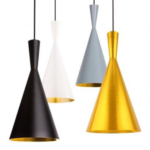 Lampe suspendue vintage en aluminium