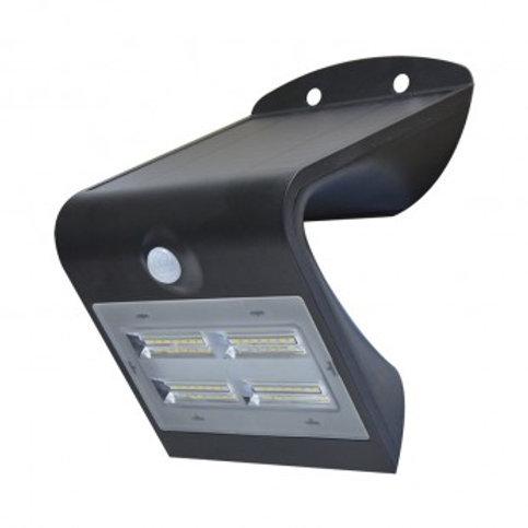 Applique LED cadre noir, solaire, 3,2W, avec détecteur
