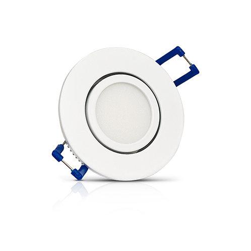 Spot LED, cadre blanc, orientable, 3W