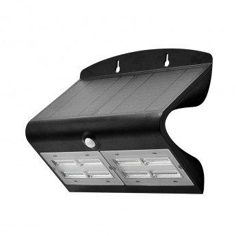 Applique LED cadre noir, solaire, 6,8W, avec détecteur