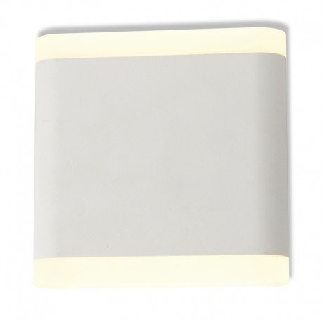 Applique murale LED carrée blanche, 6W