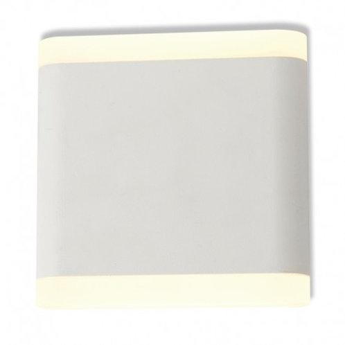 Applique murale LED carrée blanche, 6W