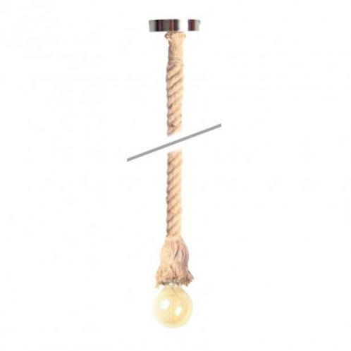 Lampe suspendue corde en lin