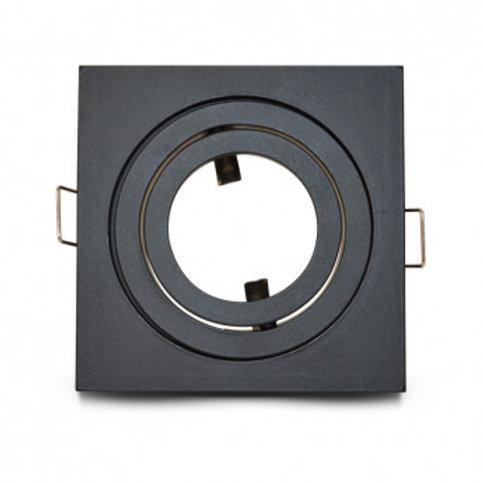 Support plafond carré noir mat, orientable