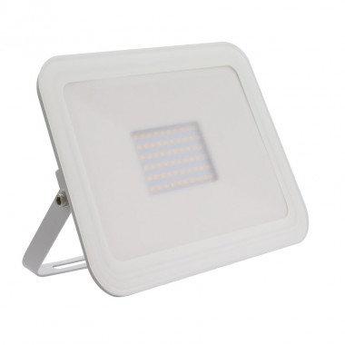 Projecteur LED SMD crystal extérieur cadre blanc, extra-plat, 50W