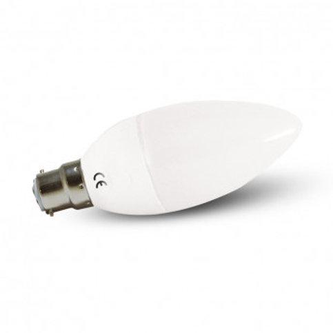 Ampoule LED B22, flamme, 6W, 4000°K (x2)