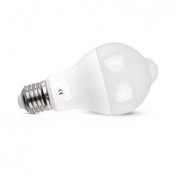 Ampoule LED E27, bulbe, avec détecteur, 12W