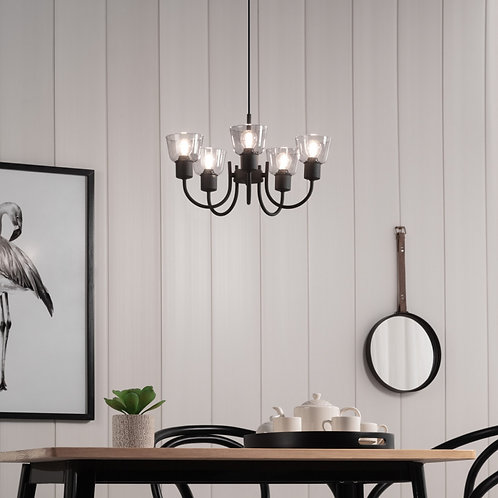 Lampe de plafond noire