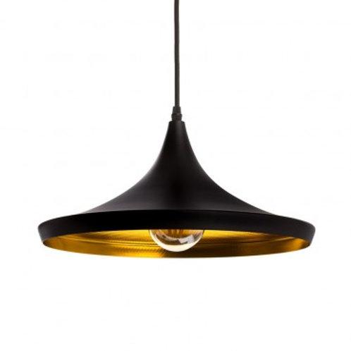 Lampe suspendue vintage noire en aluminium