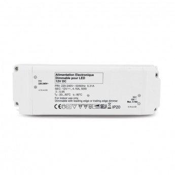 Bloc d'alimentation pour LED, 12V DC, 50W, dimmable, coupure de phase