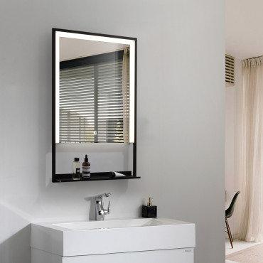 Miroir LED SMD2835 rectangulaire, 45W, anti-buée