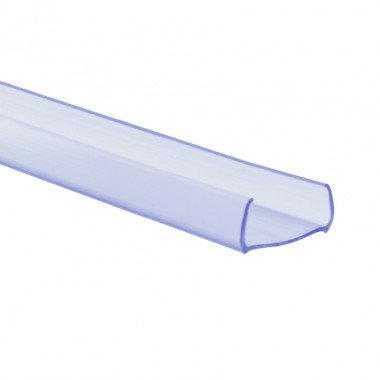 Profilé en PVC, rond,  pour gaine néon LED 360° flexible monochrom, 1m x 14x13mm