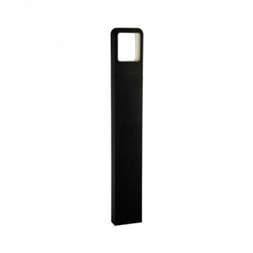 Balise sur pied LED rectangulaire extérieure cadre noir, 6W