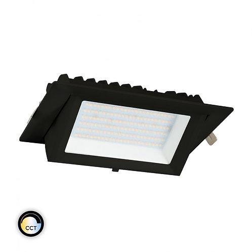 Projecteur encastrable LED Samsung SMD rectangulaire noir, 48W, sélectionnable