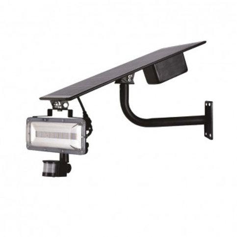 Projecteur LED solaire cadre gris, 40W, avec détecteur
