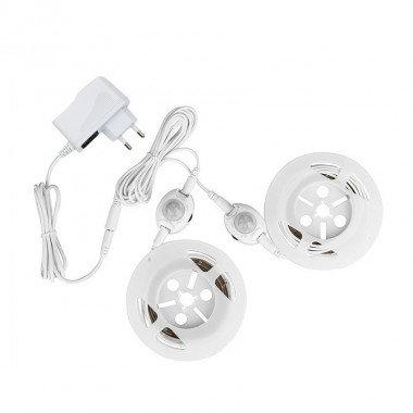 Kit de 2 rubans LED avec capteur PIR pour lit adulte, 8W