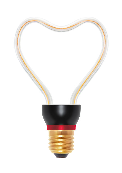 Ampoule LED E27, courbe coeur, 8W, dimmable