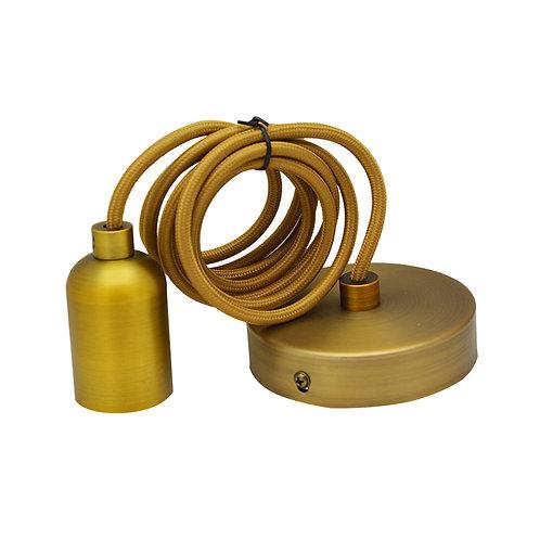 Lampe suspendue cylindre rond douille métal avec câble de 2m