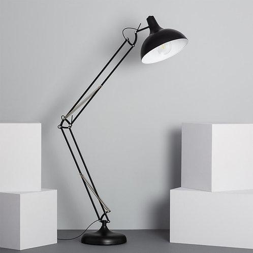 Lampe sur pied en aluminium noir