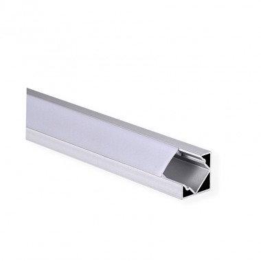 Profilé en aluminium translucide pour ruban LED, 1m x 10x8mm