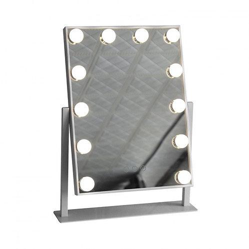 Miroir LED SMD2835 rectangulaire, 12W, avec interrupteur tactile