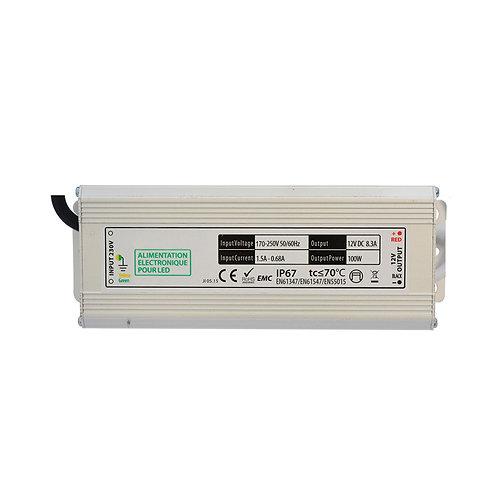 Bloc d'alimentation pour bandeau LED, 12V DC, 100W