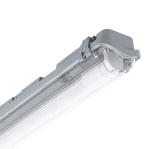 2 Tubes LED T8 avec réglette étanche, connexion latérale, long. 1500mm, 44W