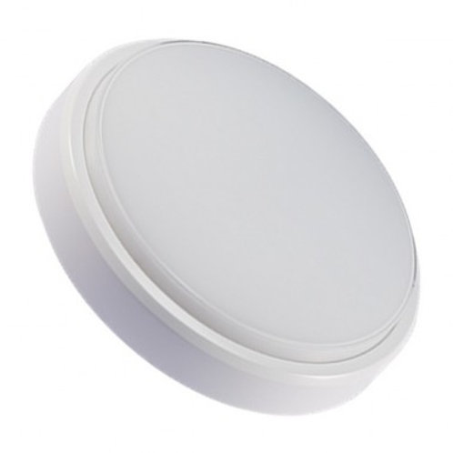 Plafonnier LED rond cadre blanc, 12W