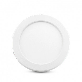 Downlight LED rond, cadre blanc, 18W, sélectionnable, dimmable
