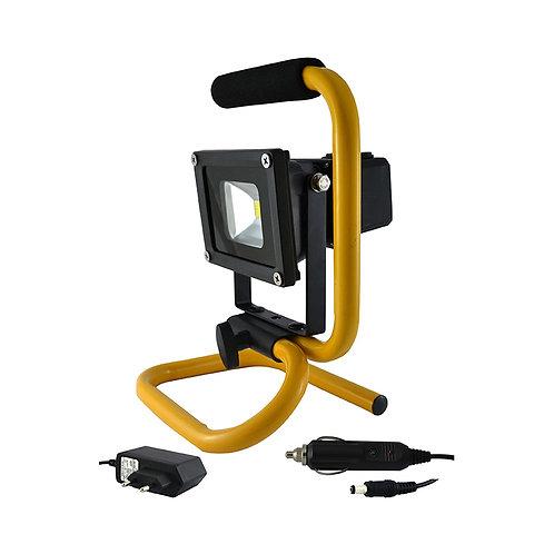Projecteur LED extérieur, portatif, IP65, 10W