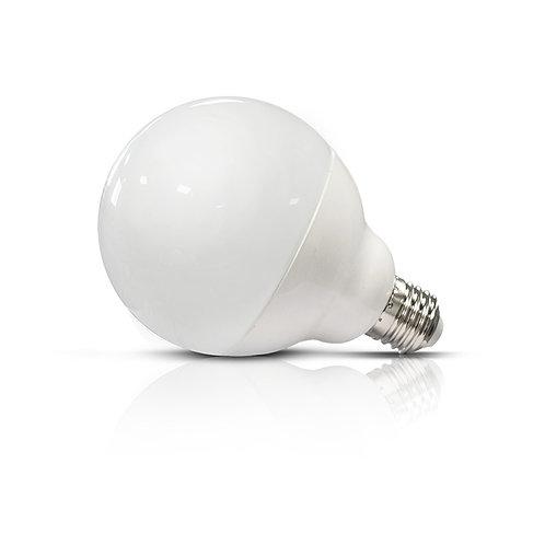 Ampoule LED E27, globe dépolie, 15W