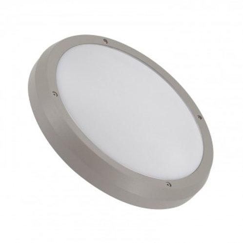 Plafonnier LED rond cadre gris, puissance maximale 2x60W