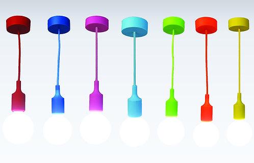 Lampe suspendue douille silicone avec câble de 2m