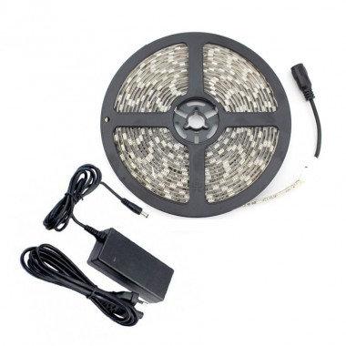 Ruban LED SMD5050, 48W, 12V DC, IP65, avec bloc d'alimentation