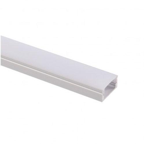 Profilé en aluminium translucide,  pour ruban LED, 1m x 17x8mm
