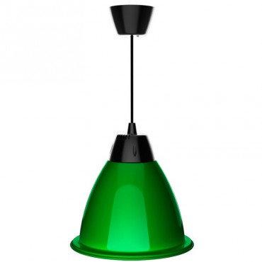 Suspension cloche LED verte en aluminium, 35W