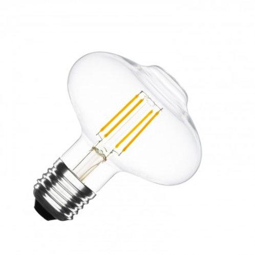 Ampoule LED E27 G125, filament, 6W, dimmable