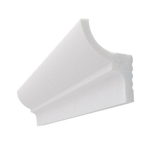 Moulure en polycarbonate, en saillie d'éclairage indirect, pour ruban LED