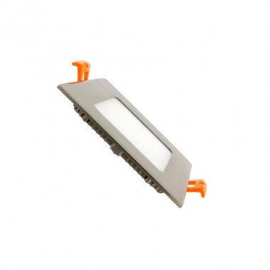 Dalle LED SMD carrée cadre argenté, 6W