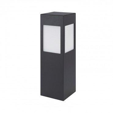 Balise sur pied LED rectangulaire cadre noir, solaire, 01W, 80cm, avec détecteur