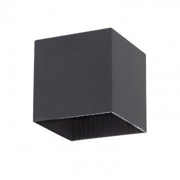 Applique extérieure LED carrée noire, solaire, 1W, avec détecteur