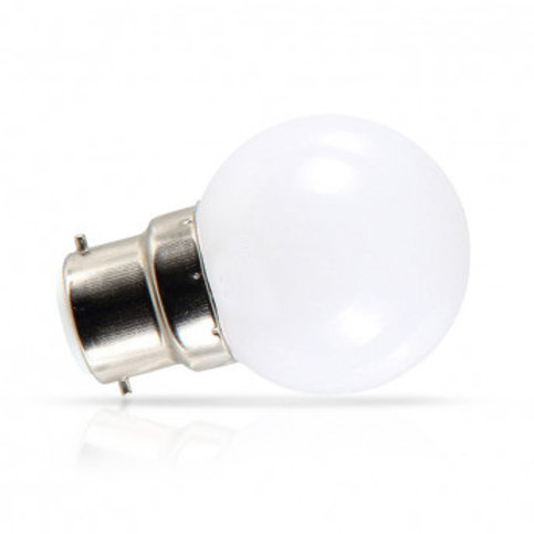 Ampoule LED B22, bulbe, 1W, RGB