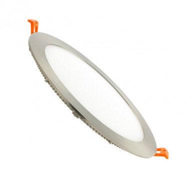 Downlight LED SMD cadre argenté, 18W