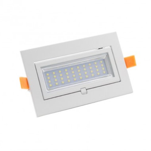 Projecteur LED Samsung SMD cadre blanc, pour présentoir et vitrine, 20W