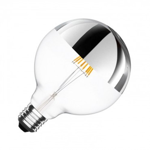 Ampoule LED E27 G125, filament reflect, 6W, dimmable